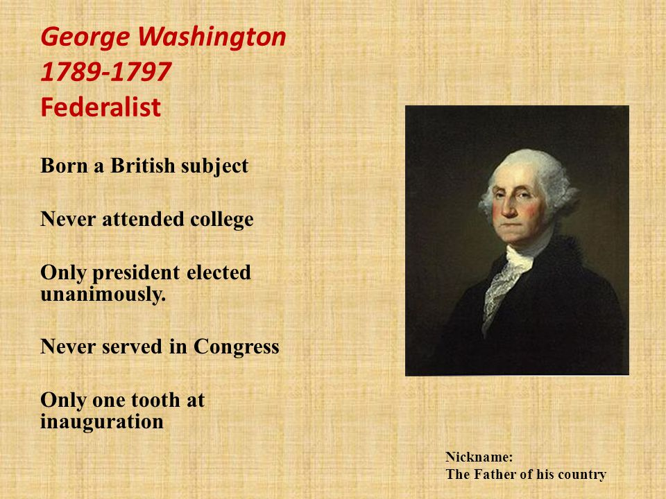 George Washington Federalist