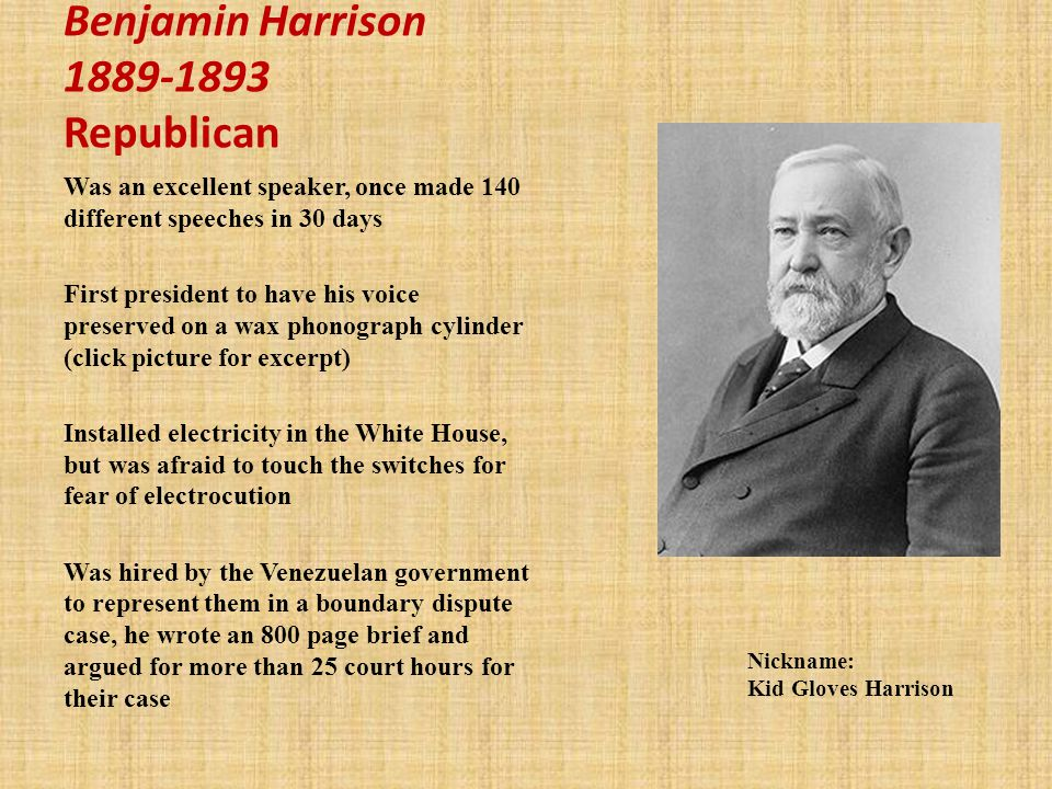 Benjamin Harrison Republican