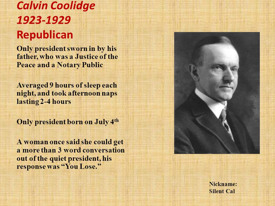 Calvin Coolidge Republican