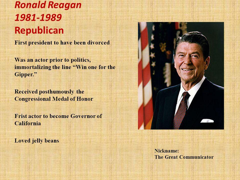 Ronald Reagan 1981-1989 Republican