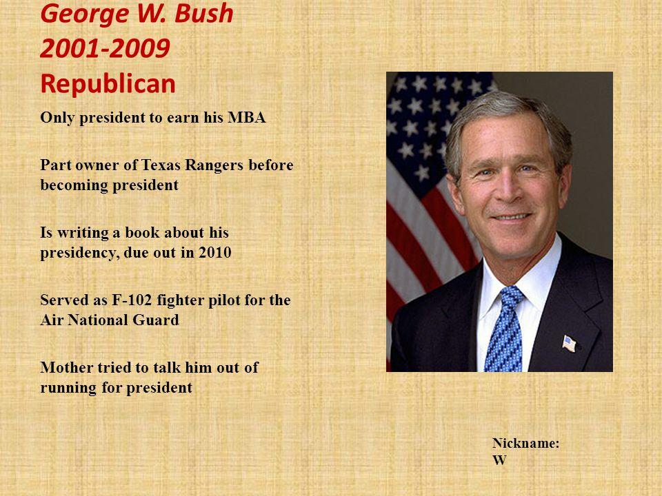 George W. Bush 2001-2009 Republican