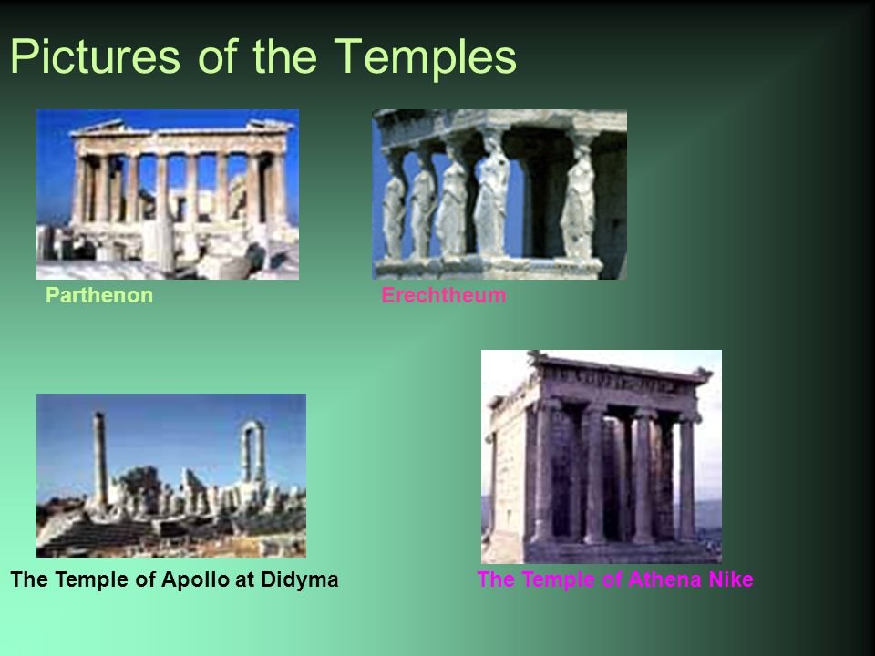 Pictures of the Temples