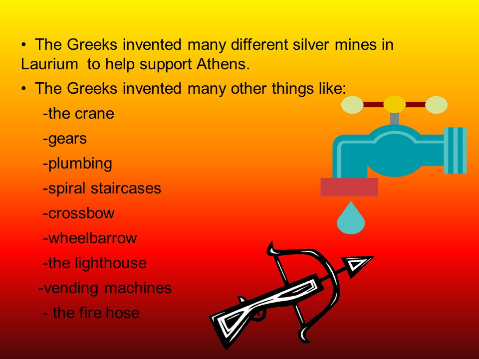 The Greeks invented many different silver mines in Laurium to help support Athens.