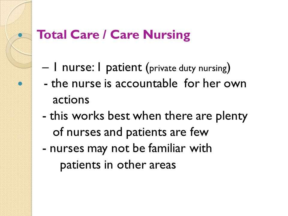 Total Care / Care Nursing