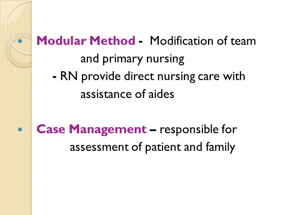 Modular Method - Modification of team