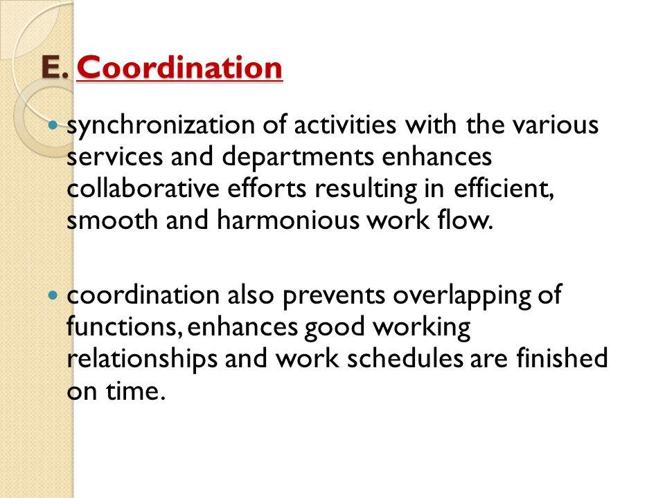 E. Coordination