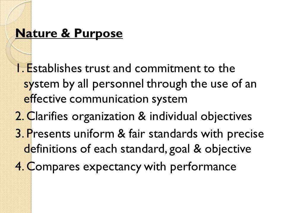 Nature & Purpose 1.