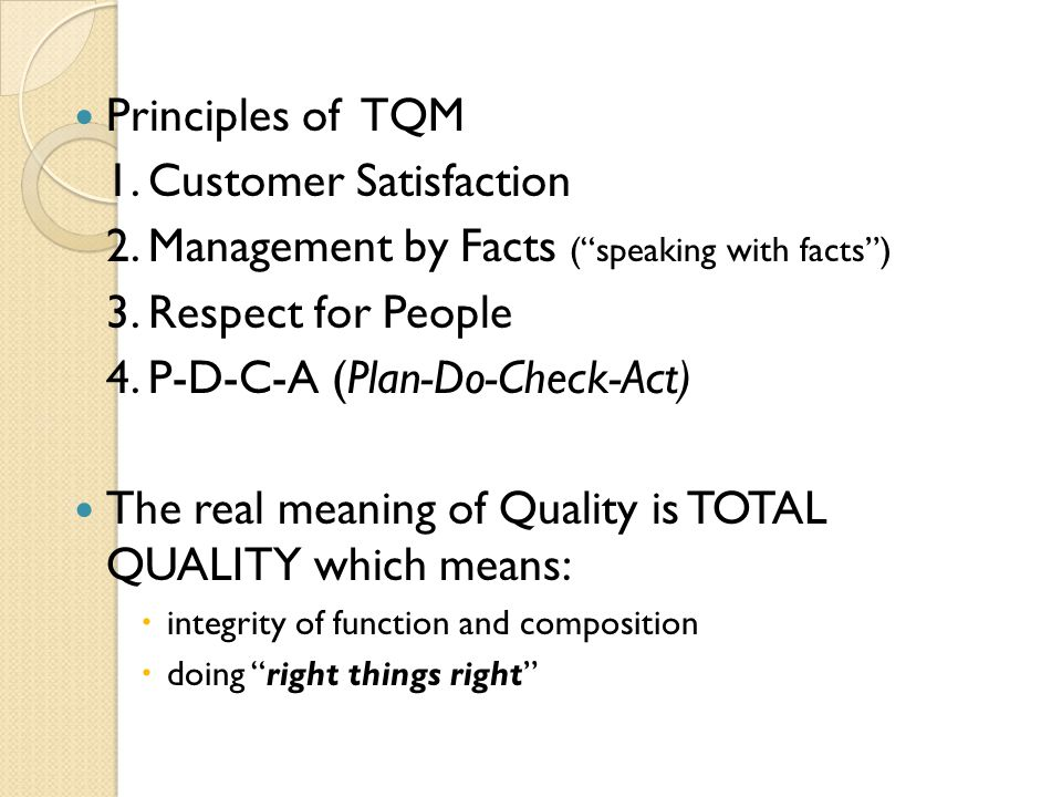 1. Customer Satisfaction