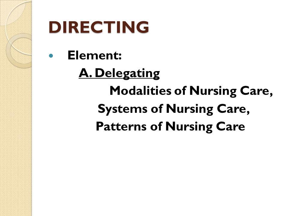 Systems of Nursing Care,