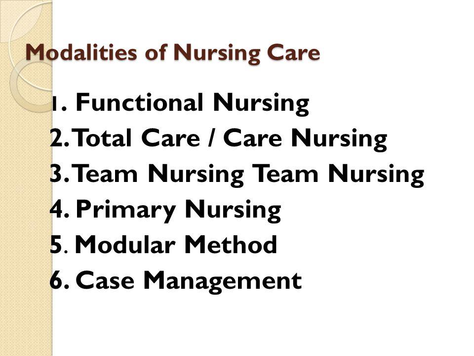 Modalities of Nursing Care