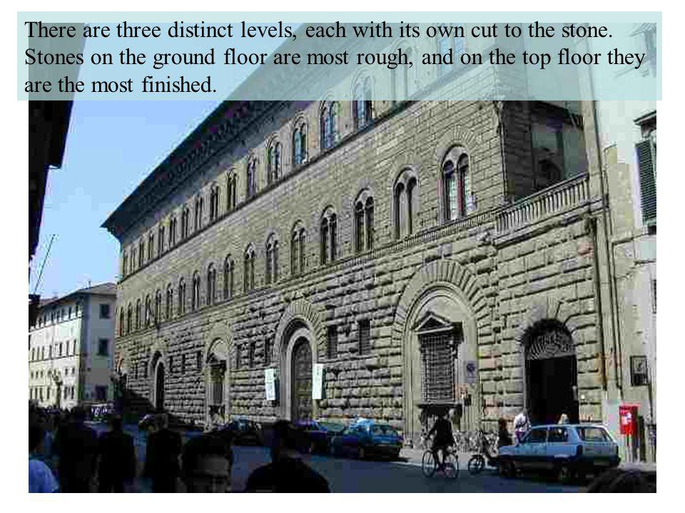 There are three distinct levels, each with its own cut to the stone
