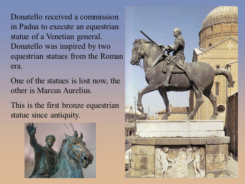 One of the statues is lost now, the other is Marcus Aurelius.