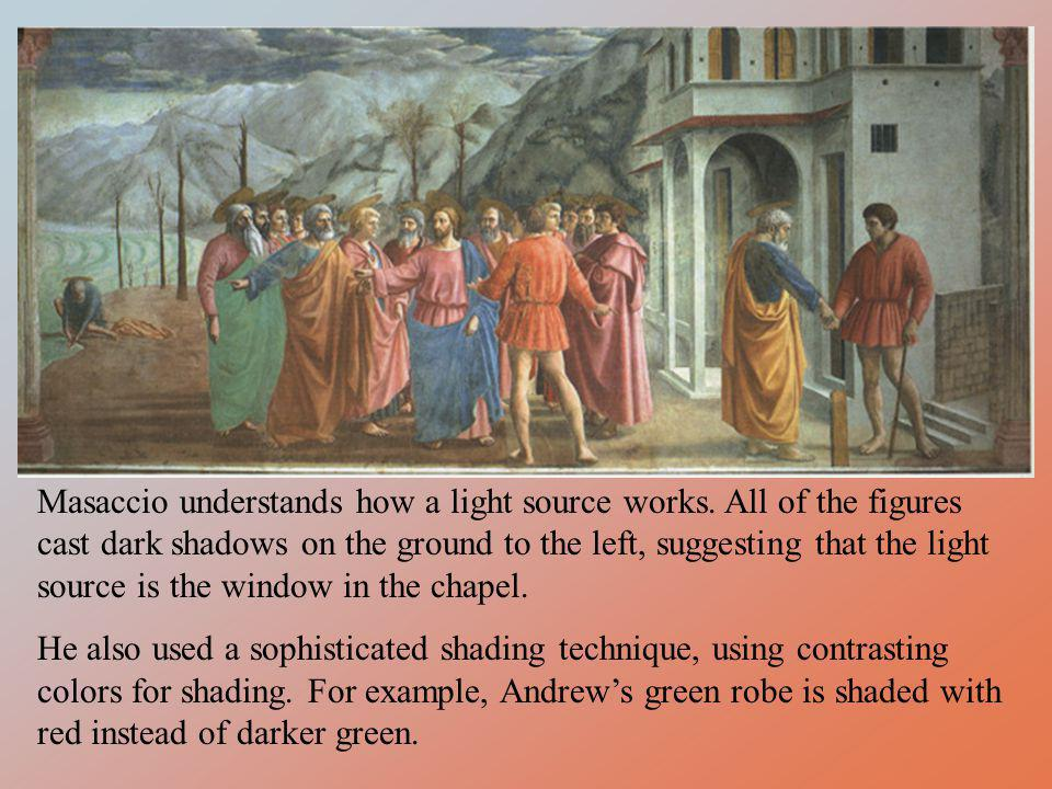 Masaccio understands how a light source works
