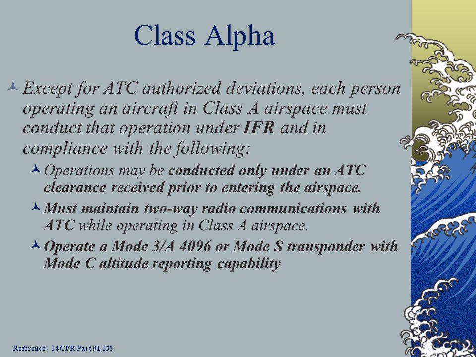 Class Alpha