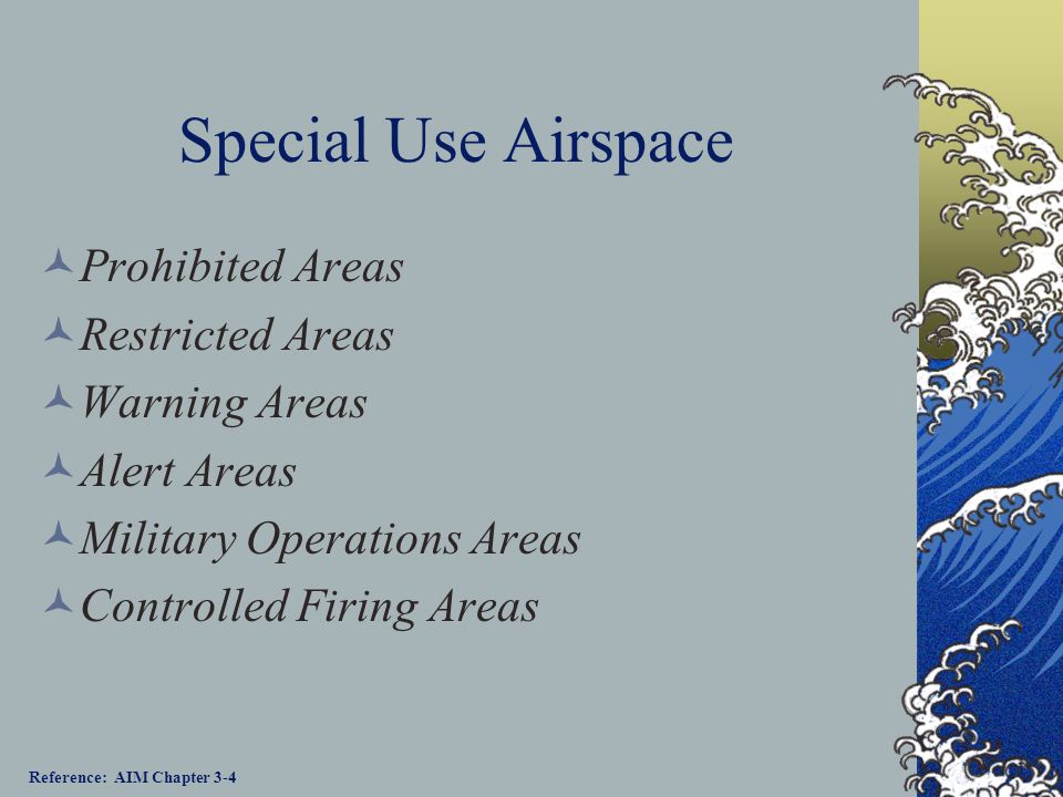 Special Use Airspace Prohibited Areas Restricted Areas Warning Areas