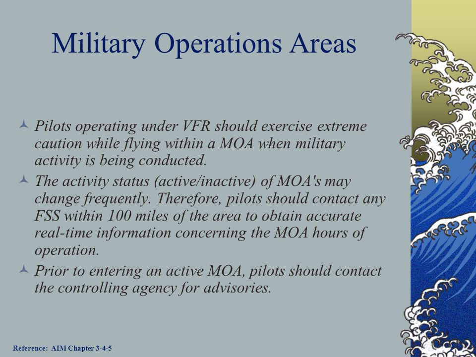 Military Operations Areas