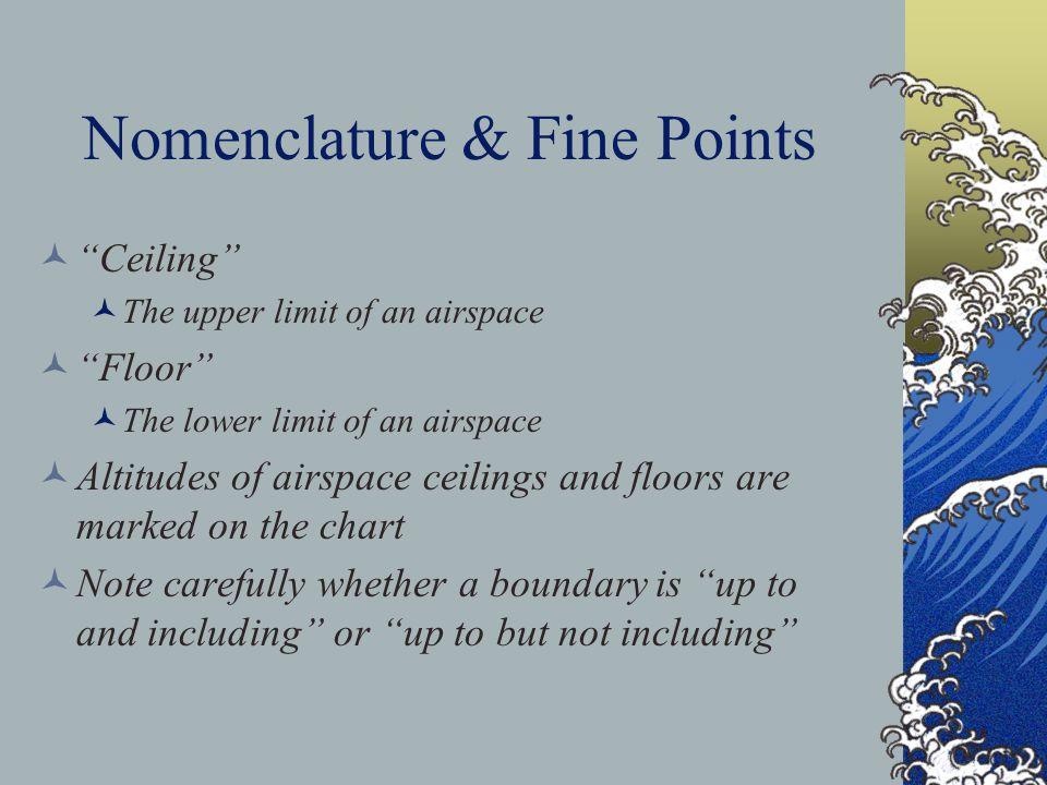 Nomenclature & Fine Points