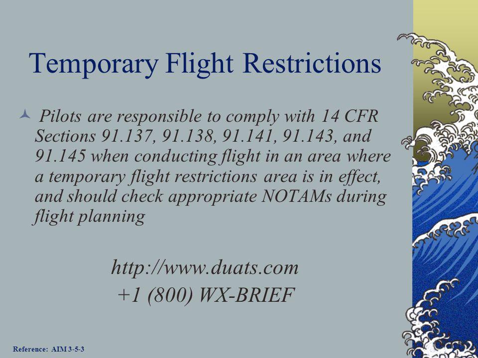 Temporary Flight Restrictions