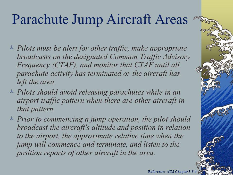 Parachute Jump Aircraft Areas