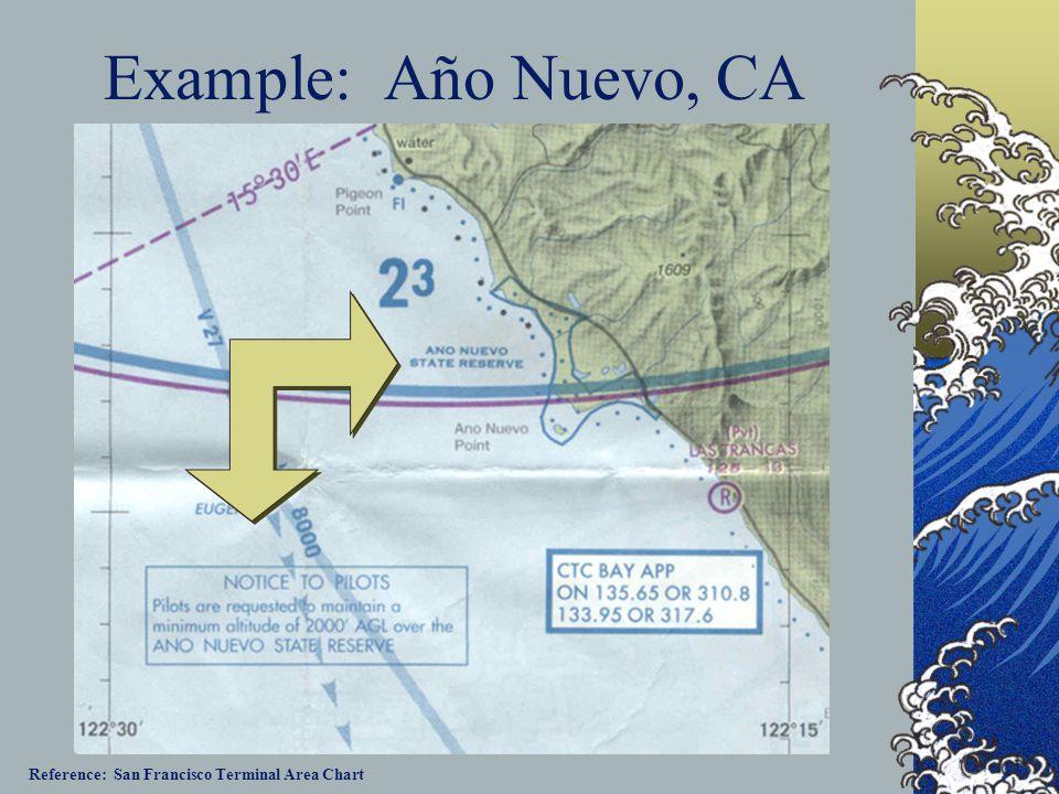 Example: Año Nuevo, CA Reference: San Francisco Terminal Area Chart