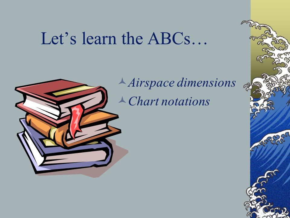 Let's learn the ABCs… Airspace dimensions Chart notations