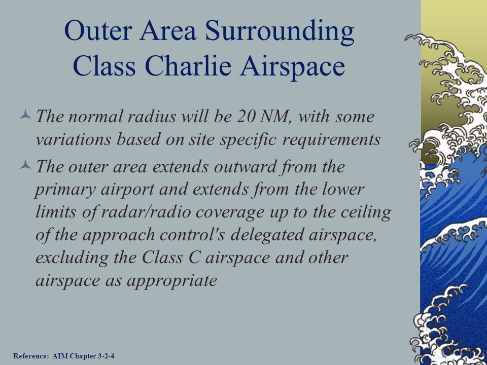 Outer Area Surrounding Class Charlie Airspace
