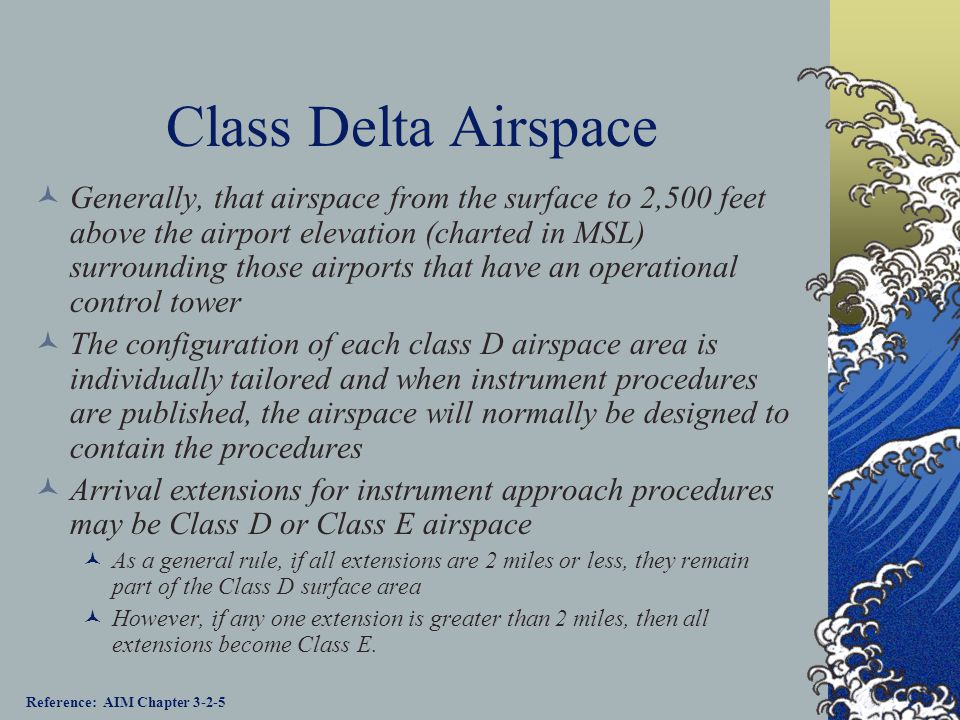 Class Delta Airspace
