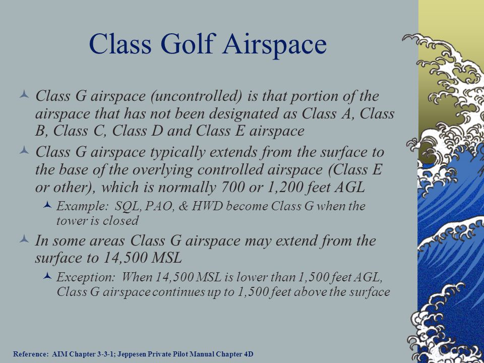 Class Golf Airspace