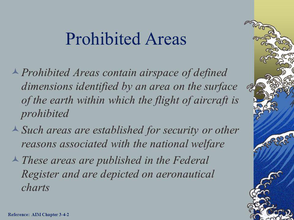 Prohibited Areas