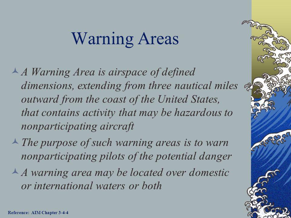 Warning Areas