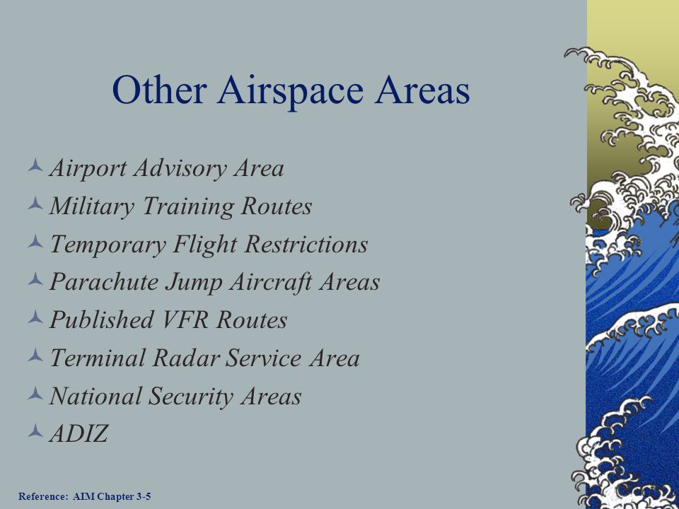 Other Airspace Areas Airport Advisory Area Military Training Routes