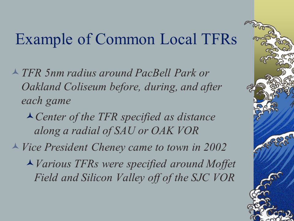 Example of Common Local TFRs