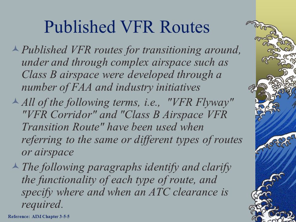 Published VFR Routes