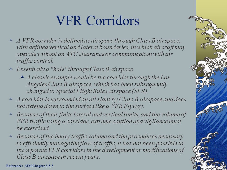 VFR Corridors