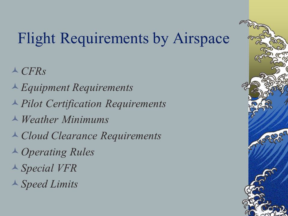 Flight Requirements by Airspace