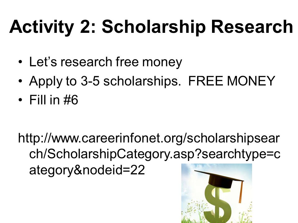 Activity 2: Scholarship Research