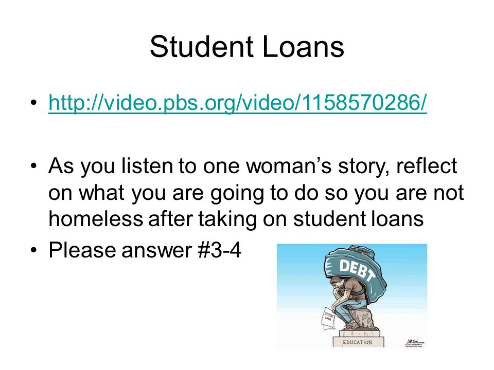 Student Loans http://video.pbs.org/video/1158570286/