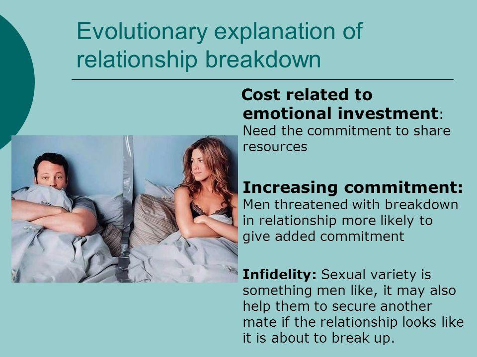 Evolutionary explanation of relationship breakdown