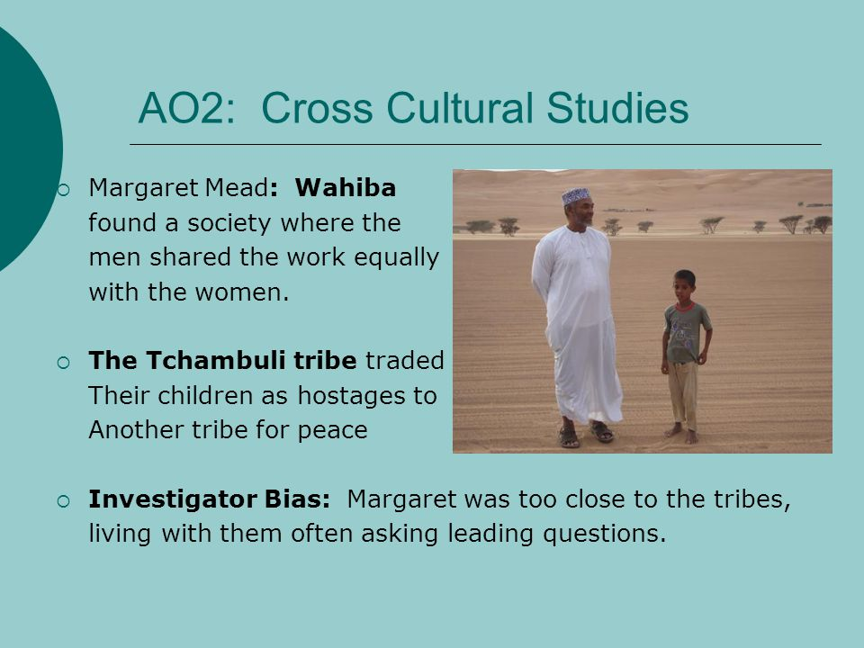 AO2: Cross Cultural Studies