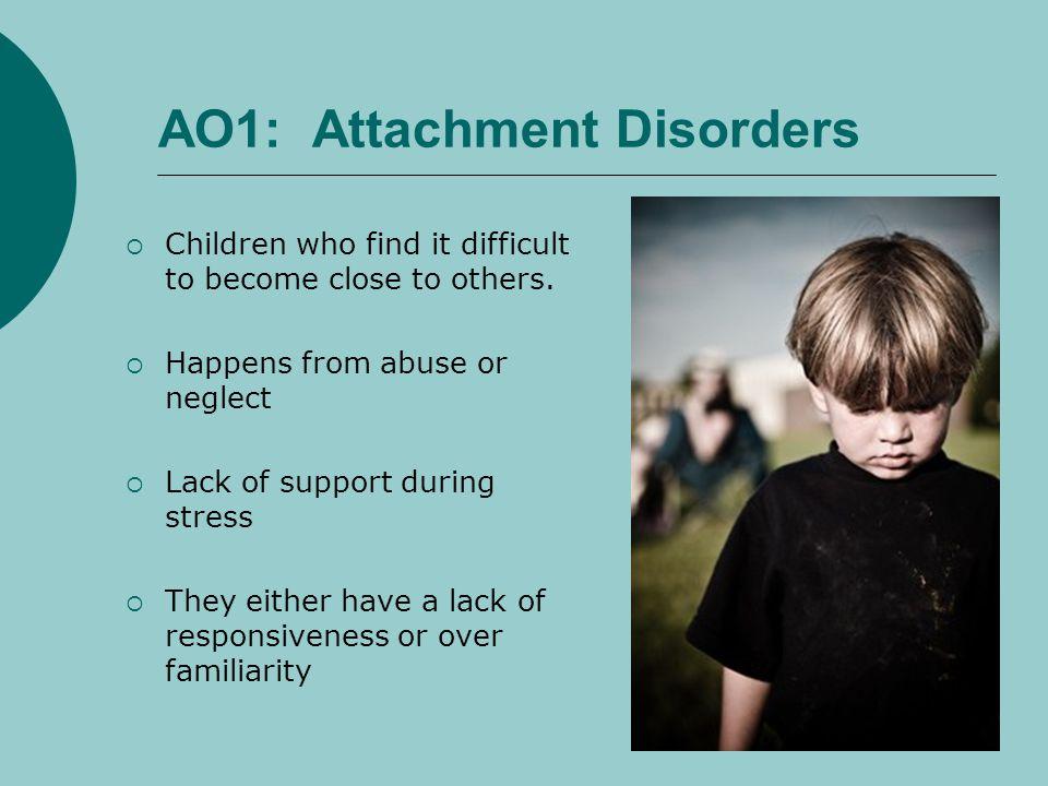 AO1: Attachment Disorders