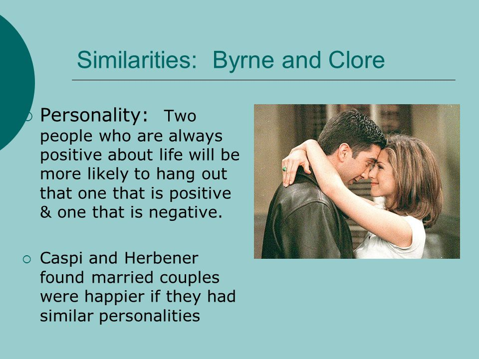 Similarities: Byrne and Clore