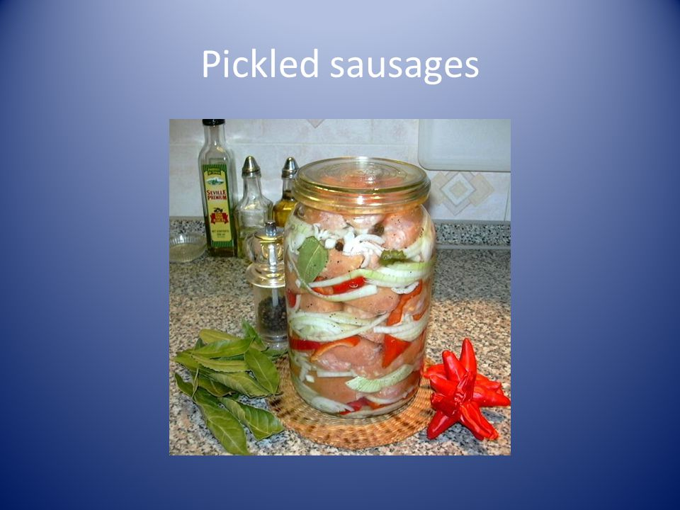 Pickled sausages
