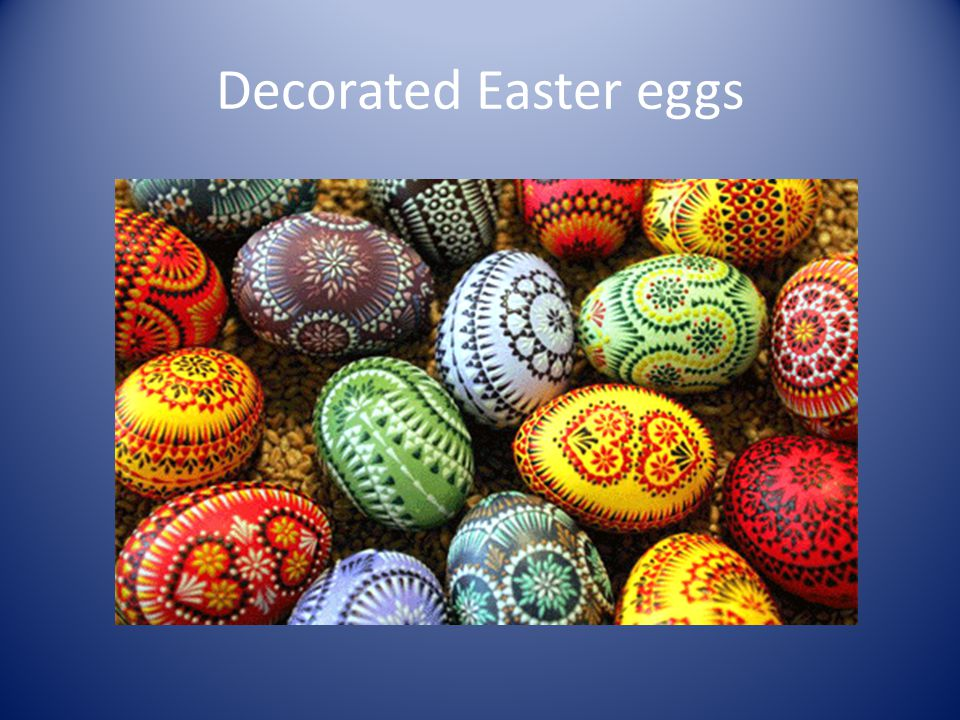 Decorated Easter eggs