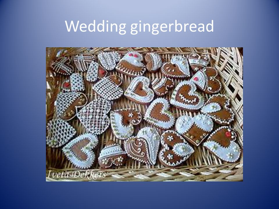 Wedding gingerbread