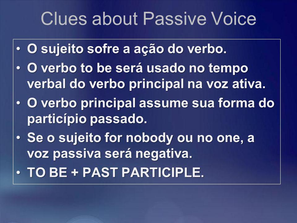 Clues about Passive Voice