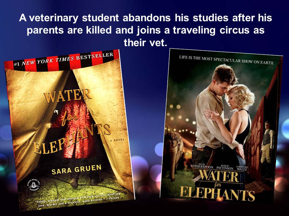 A veterinary student abandons his studies after his parents are killed and joins a traveling circus as their vet.