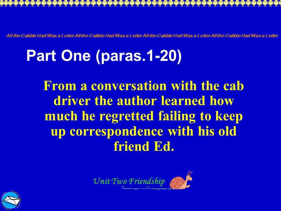Part One (paras.1-20)