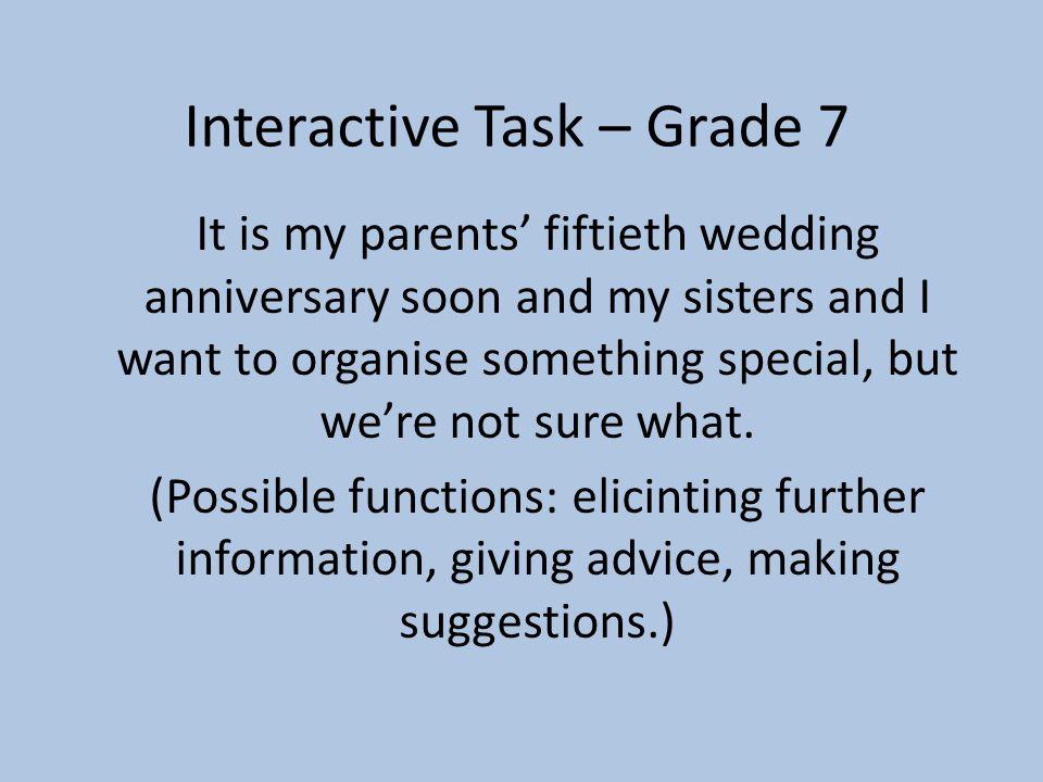 Interactive Task – Grade 7