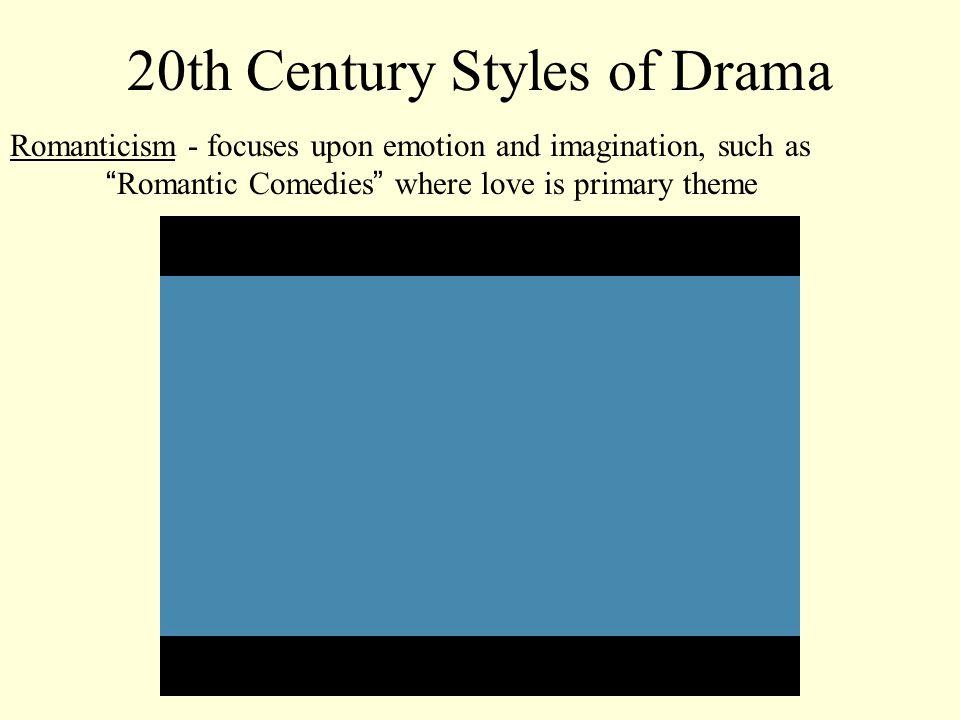 20th Century Styles of Drama