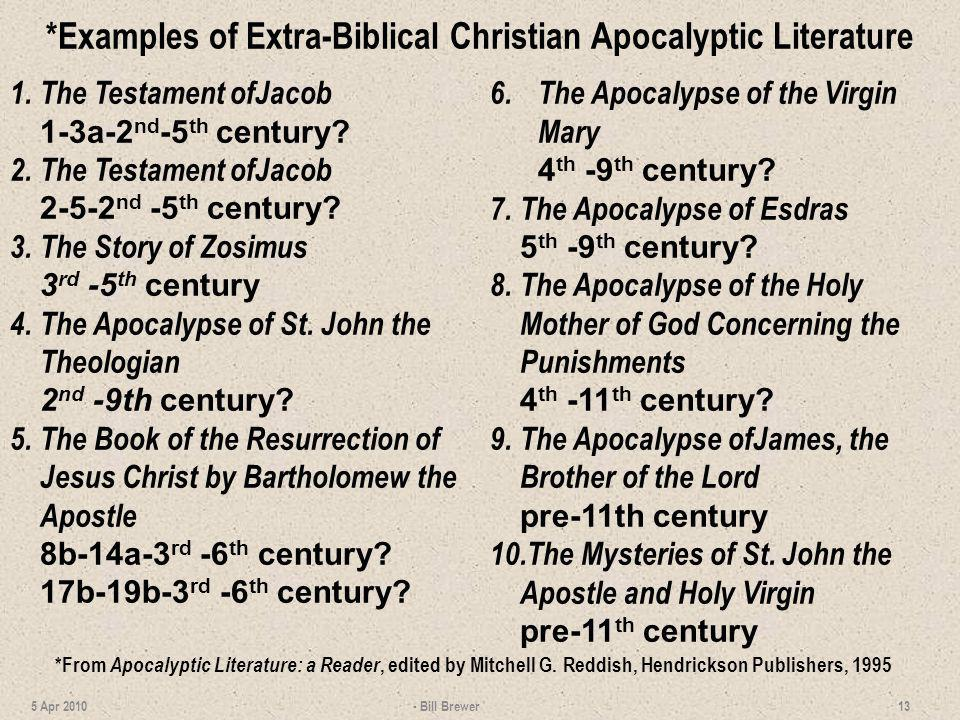 *Examples of Extra-Biblical Christian Apocalyptic Literature